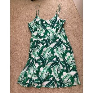 Old Navy Green Leaf Fit Flare Dress XL